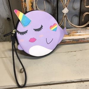 NWT Betsey Johnson Narwhal wristlet
